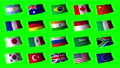 Greenback ตั้งค่าสถานะ G20 สำหรับองค์ประกอบของ Chroma Key 54587296