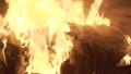 View of flaming capmfire burning with sparks at night. FullHD 54593221