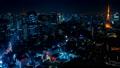 2019 大都会 東京夜景 タイムラプス スカイツリーと東京タワーを同時に望む定番風景 ナロー 54656557