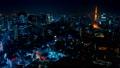 2019 大都会 東京夜景 タイムラプス スカイツリーと東京タワーを同時に望む定番風景 ズームイン 54656558
