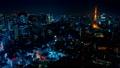 2019 大都会 東京夜景 タイムラプス スカイツリーと東京タワーを同時に望む定番風景 ズームアウト 54656559