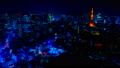 2019 大都会 東京夜景 タイムラプス スカイツリーと東京タワーを同時に望む定番風景 カラグレ 54656560