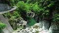 面河川의 신록 공중 촬영, 面河 블루에 빛나 54656676