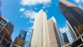 東京 新宿高層ビル街 タイムラプス 超ワイド 魚眼で見上げる摩天楼の青空と雲 ティルト 54660594