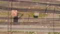 Railway tracks with freight trains top view. aerial survey 54667462