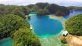 Tropical sea bay and lagoon, beach in Bucas Grande Island, Sohoton Cove, Philippines. Tropical 54677773