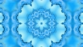 Abstract snowflake in motion of the blue lines of ribbons on a blue background. Kaleidoscopic effect 54731020