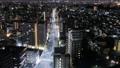 東京城市景觀通往市中心遊戲中時光倒流的道路向下傾斜 54805170