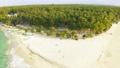 Aerial View of paradise white sand beach and azure sea on tropical Daku Island in Siargao 54829310