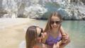 Little girls having fun at tropical beach during summer vacation 54831054
