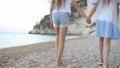 Little girls having fun at tropical beach during summer vacation 54831063
