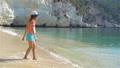 Adorable little girl during beach vacation having fun 54831068