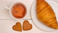 Tea with sweets. Stop motion. 54854035