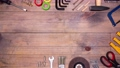 Stop motion of different DIY tools. 54854036