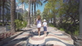 Happy family outdoors. mother and son walk near the sea. 54894948