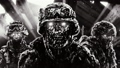 Three angry zombies soldiers in helmets   55015773