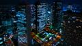 東京 新宿 夜景 タイムラプス 大都会摩天楼のビル群を見下ろす ズームアウト 55017375