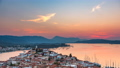 Timelapse of aerial view on Poros, Greece at sunset 55019531