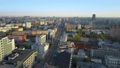 Moscow cityscape in the morning, aerial view 55055382