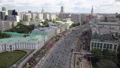 Bicycle parade in the street of Moscow, Russia. Aerial view 55055383
