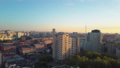 Morning cityscape of Moscow, aerial view 55055388