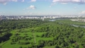 Aerial Moscow view with green park and river, Russia 55055390