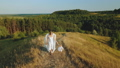 Mother with child dressed as angels walk in nature 55289198