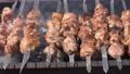 Grilled appetizing juicy pork shish kebab cooking 55374888