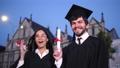 卒業証書 カップル 二人の動画 55428926