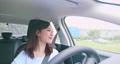 asian woman driving car 55439023