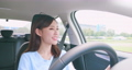 asian woman driving car 55439028