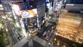 东京之夜活泼之夜银座,Sukiyabashi Crossing Timelapse Fix 55546093