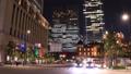 Night view of the downtown area Tokyo Marunouchi Time Lapse Tilt Down 55919535
