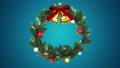 クリスマスリース_定点_青 56012409