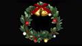 クリスマスリース_定点_黒 56012410