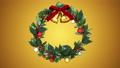 クリスマスリース_定点_金 56012411
