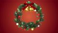 クリスマスリース_定点_赤 56012412