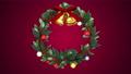 クリスマスリース_定点_マゼンタ 56012413