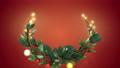 クリスマスリース_2_赤 56012417