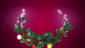 クリスマスリース_2_マゼンタ 56012418
