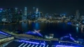 [Time Lapse] Marina Bay night view and laser show 56610615