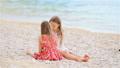 Little girls having fun at tropical beach during summer vacation 56648900