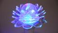 Multi-colored rotating lamp. Lotus lamp 56684486