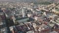 Aerial City Lviv, Ukraine. European City. Popular areas of the city. Town Hall 56715895