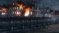 Riverfront of destroyed after WW2 european city 3D 56716356