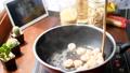 stir shrimp in pan for cooking 56736240