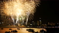 fireworks festival in the sky at coast side 56736444
