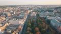 Aerial City Lviv, Ukraine. European City. Popular areas of the city. Lviv Opera 56749904