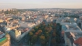 Aerial City Lviv, Ukraine. European City. Popular areas of the city. Lviv Opera 56749906