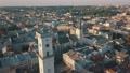Aerial City Lviv, Ukraine. European City. Popular areas of the city. Town Hall 56749908